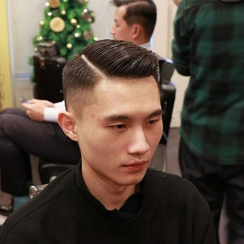 Side Part with Drop Fade