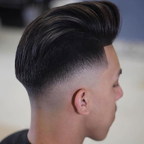 Pompadour with Tapered Fade