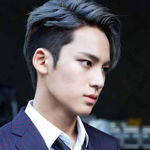 Asian Men Side Part Hairstyle