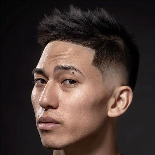 Asian Textured Taper Haircut
