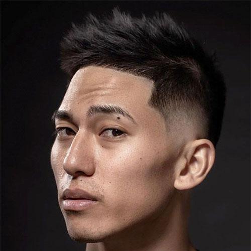 Asian Textured Taper Haircut