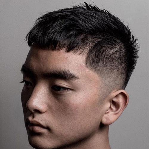 Asian Tousled Caesar Haircut