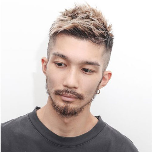 Crew cut with Volume and Highlights - Asian Men hairstyles