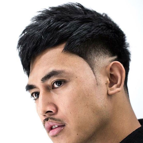 Asian Low Fade Haircut