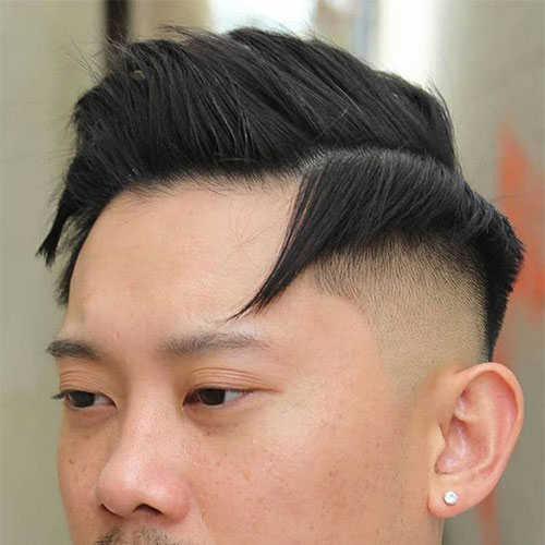 Comb Over with Drop Fade