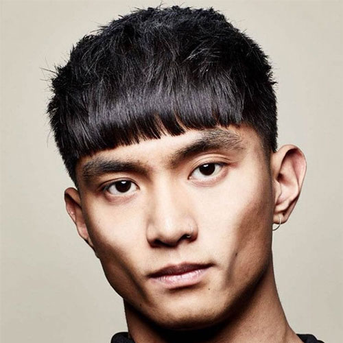 French Crop Haircut in Asian Style