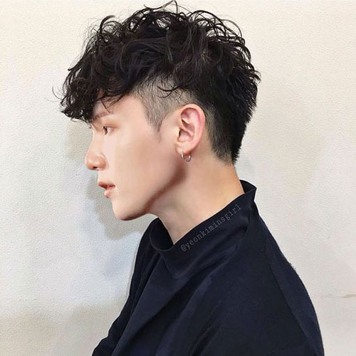 Messy Quiff with Undercut - Asian Men hairstyles
