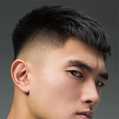 Asian Men with High Taper Fade Haircut