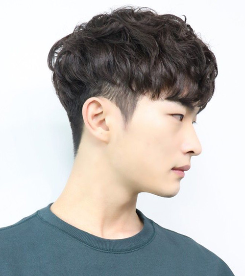 Layered Short Two Block Haircut