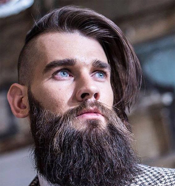 Viking Inspired Side Swept