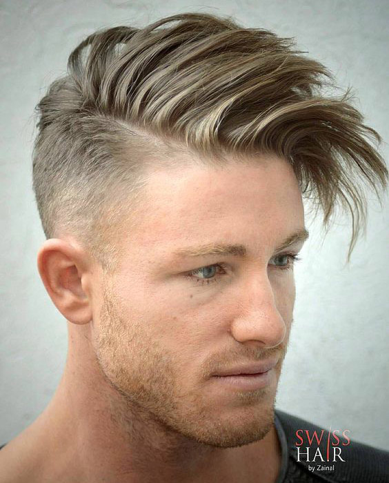 Sleek Side Swept Undercut