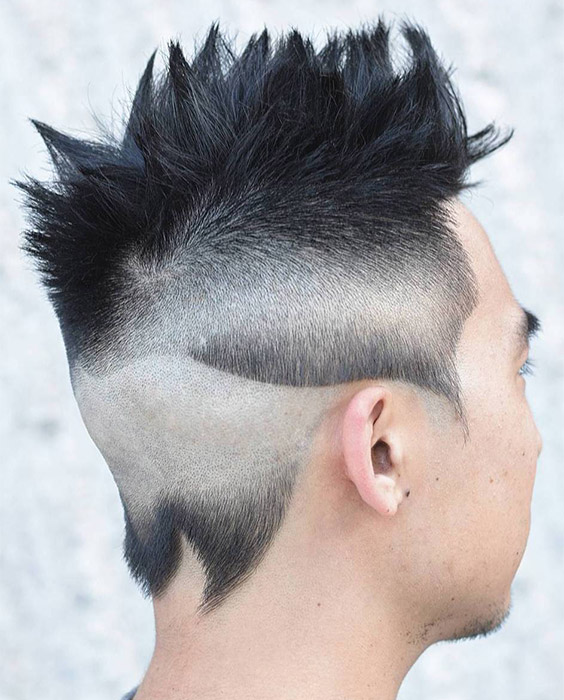 Wavy Fades with Spiky Top
