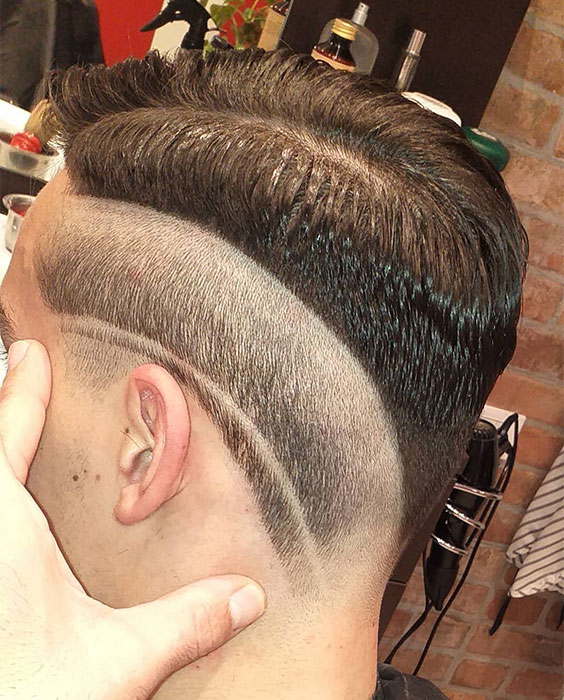 Reverse Fade with Curvy Line