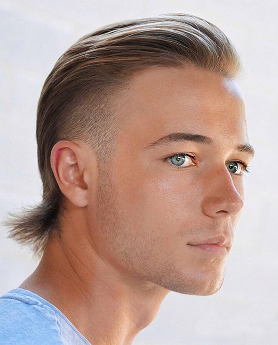 Slicked Back Mullet Hairstyle