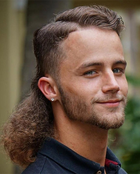 Mullet with Long Cascading Curls