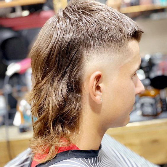 Long Mullet with Side Part