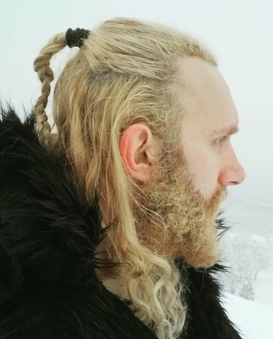 Soft Blond Locks and Braids