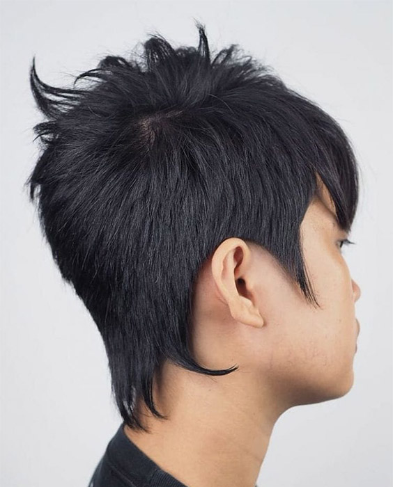 Spiky Mullet Haircut