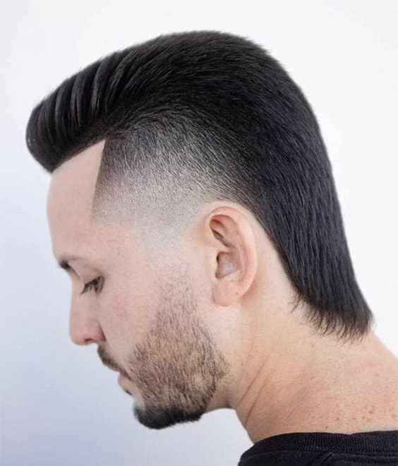 Skin Fade with Mullet