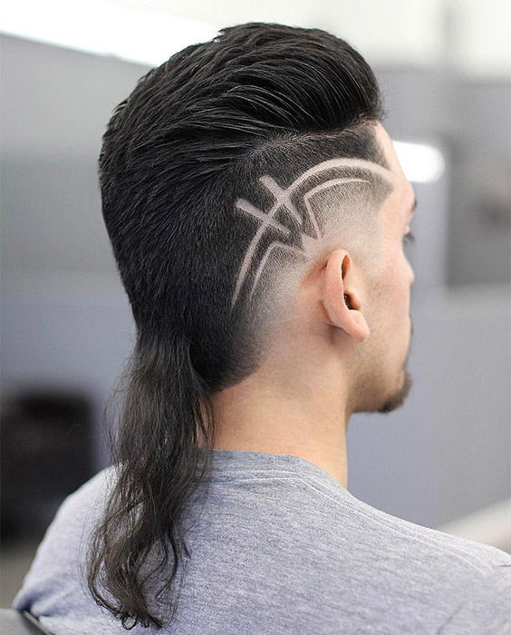 Rattail Mullet with Design