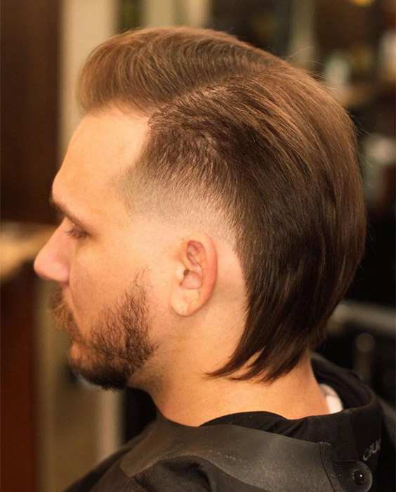 Mullet with Flipped Ends
