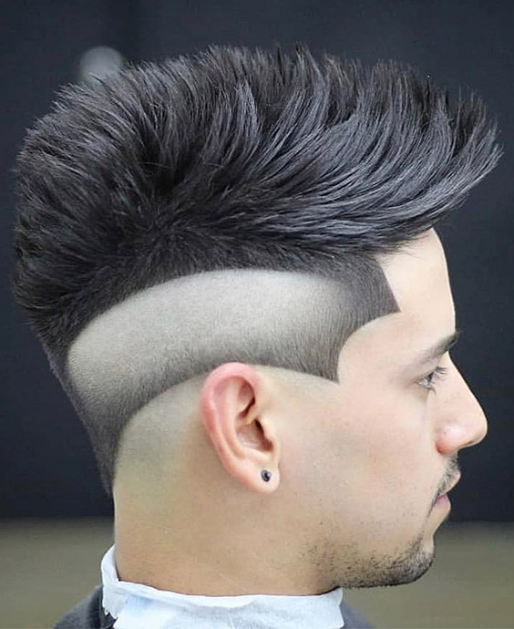 Faux Hawk with Bald Reverse Fade