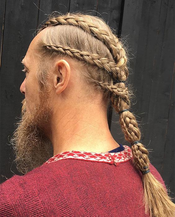 Cascading Viking Hairstyle