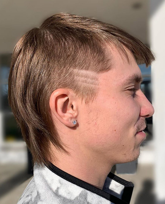 Mullet with Lines