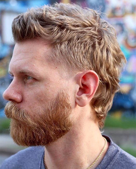 Mullet with Strawberry Blond Texture