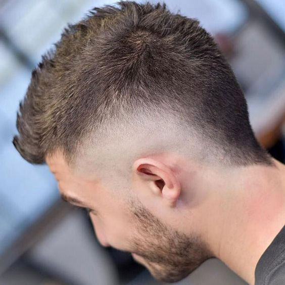 Crew Cut with Shot Mullet