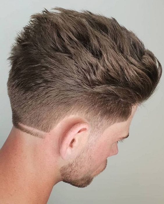 Ducktail Quiff with Neck Design