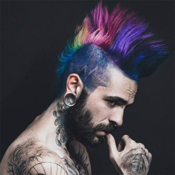 Rainbow Punk Hairstyle