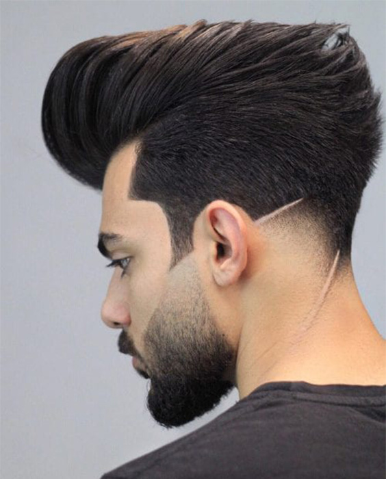 Pompadour with Sharp Ducktail