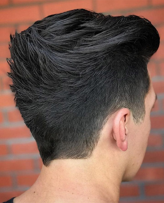 Upwards Ducktail Hairstyle