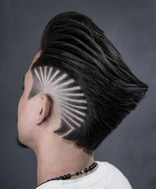 Modern Ducktail Haircut