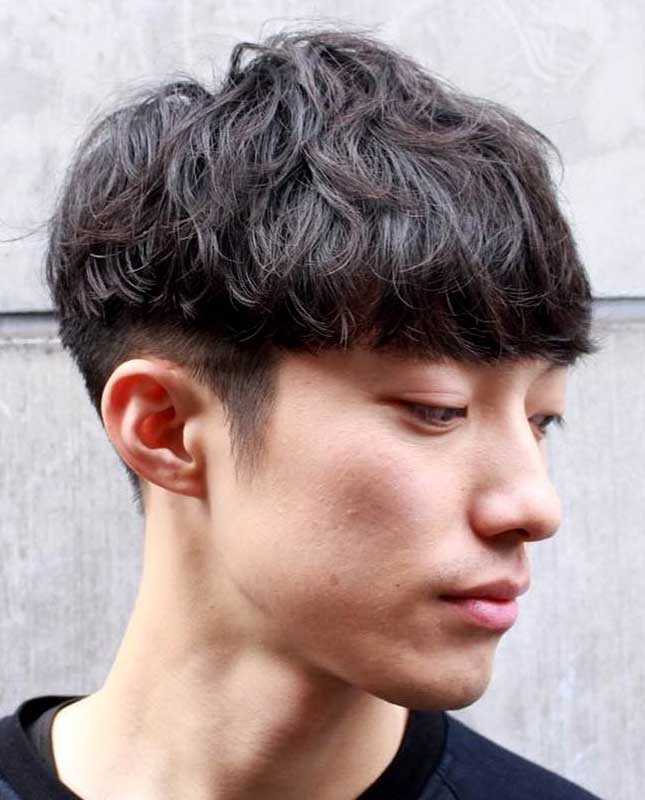 Asian Two-Block Bowl Cut