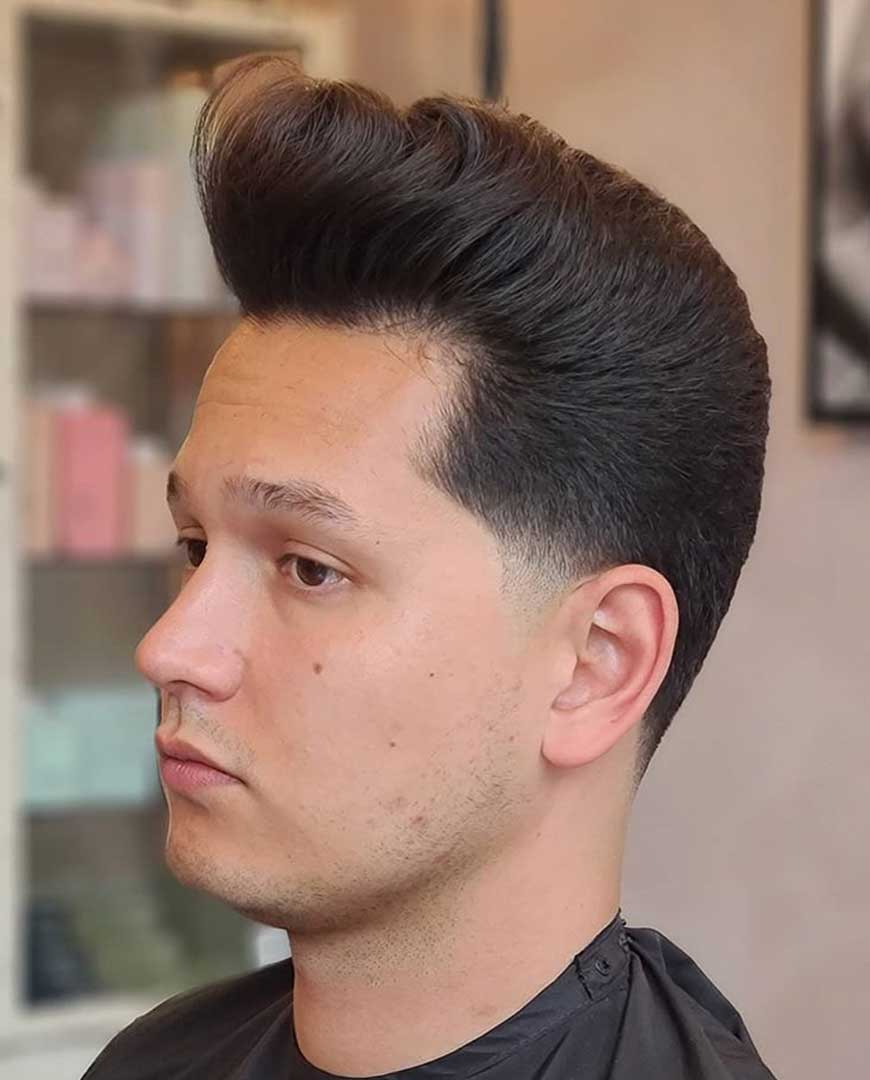 Classic Pompadour with Taper fade