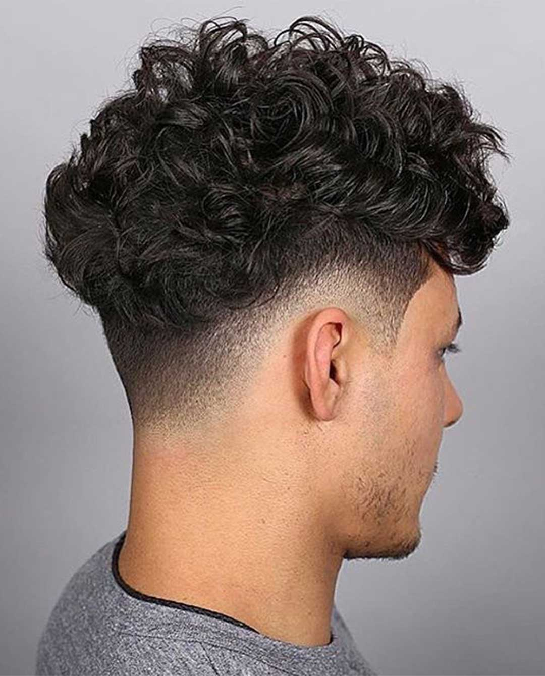 Curly Top with Low Fade