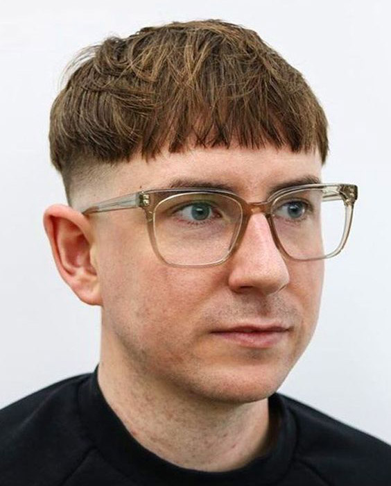 Textured Crop Bowl Cut