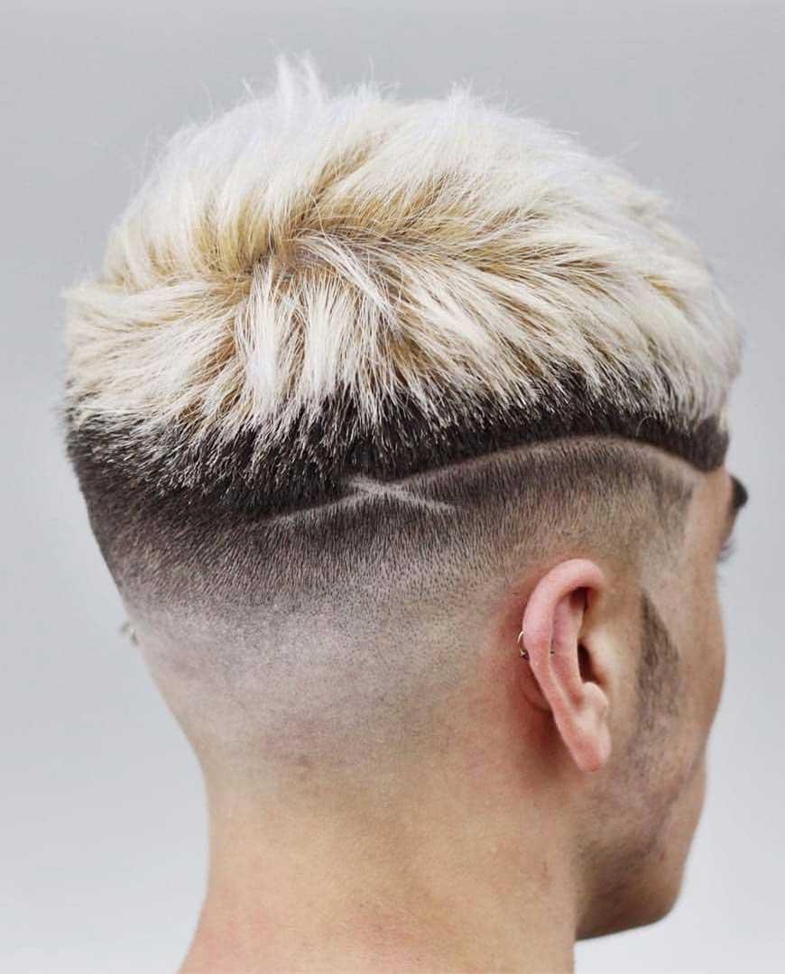 Blonde Hair with Design