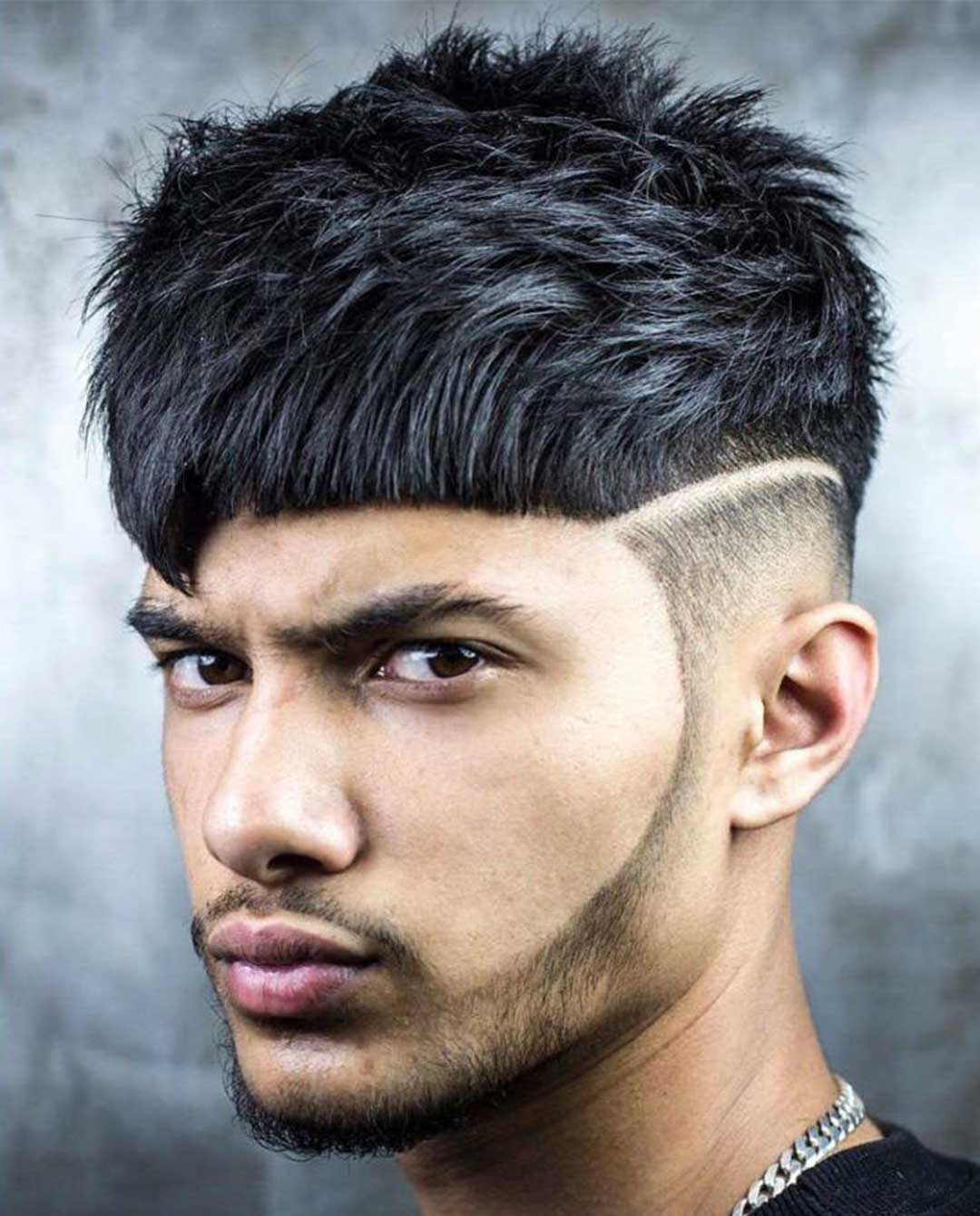 Cropped Hair with Hard Line
