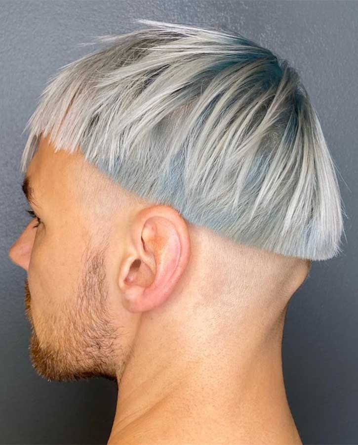 Silver Bowl Cut Men