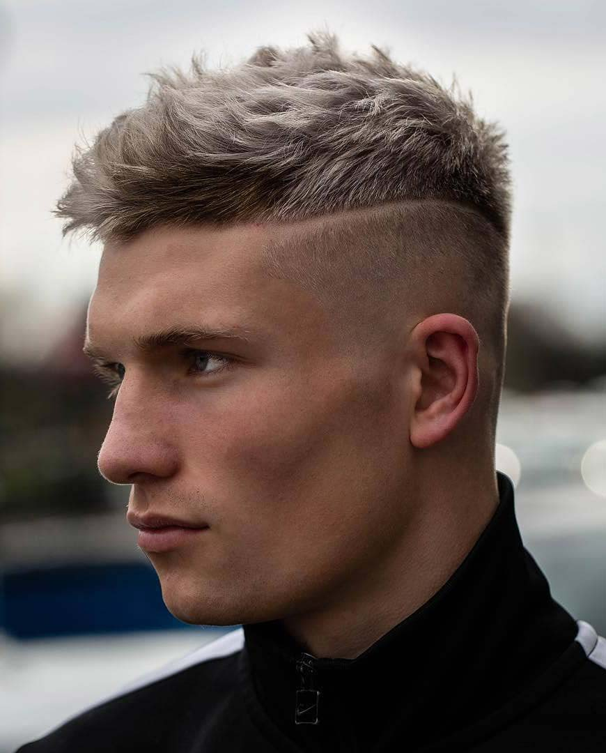 Undercut Fade with Hard Line