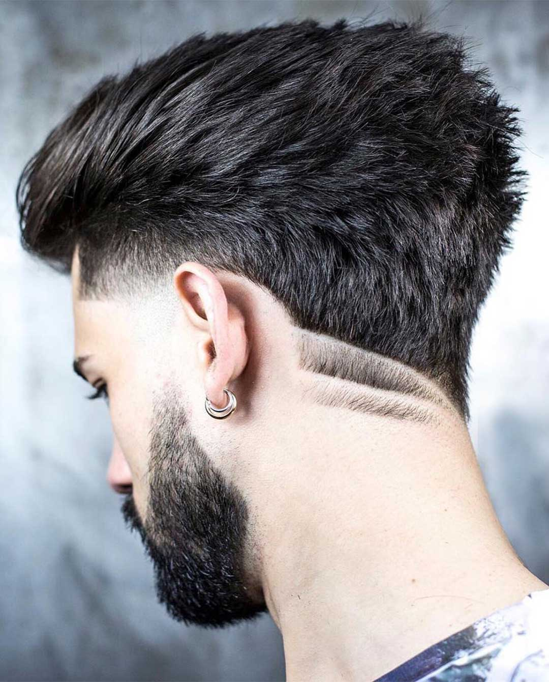 Ducktail Haircut with Double Line