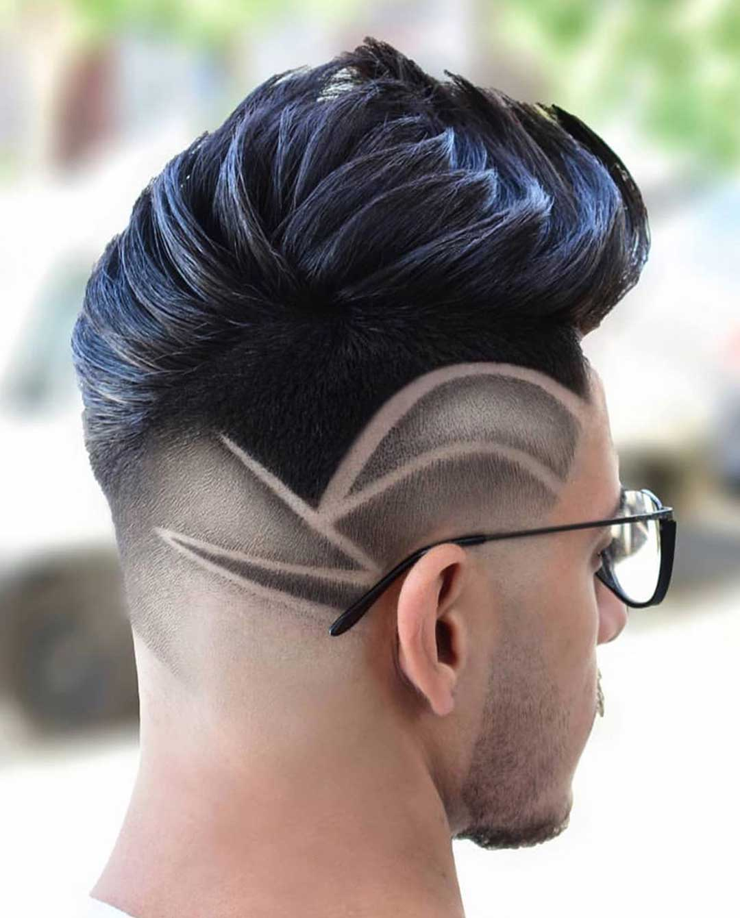 Layered Haircut with Side Design