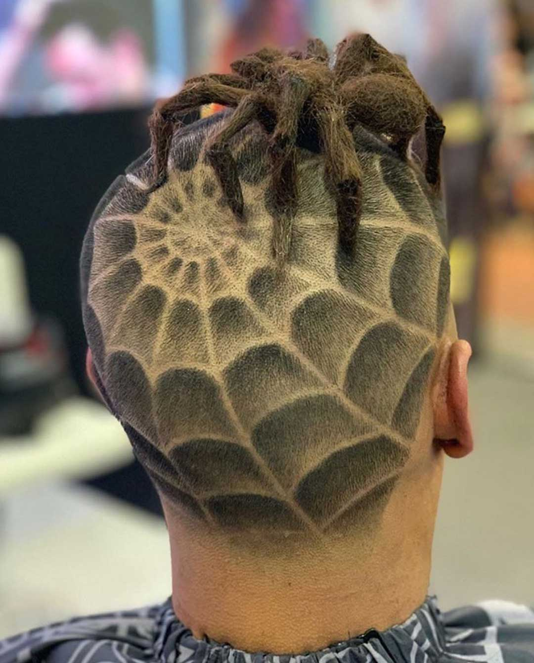 Spider Web Hair Design