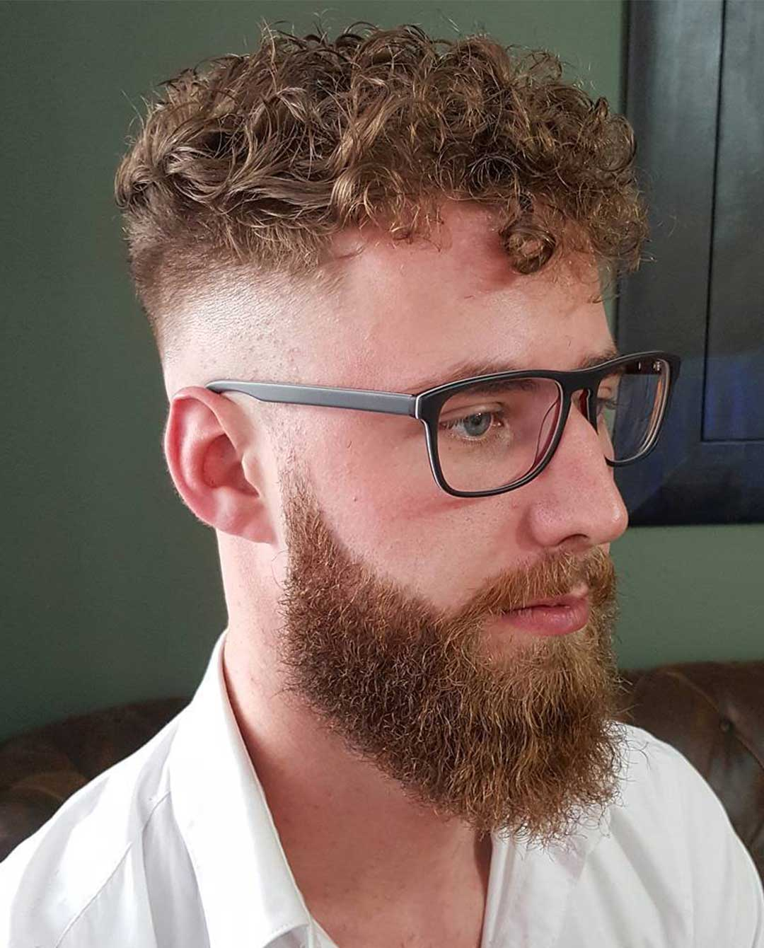 Short Perm with High Fade