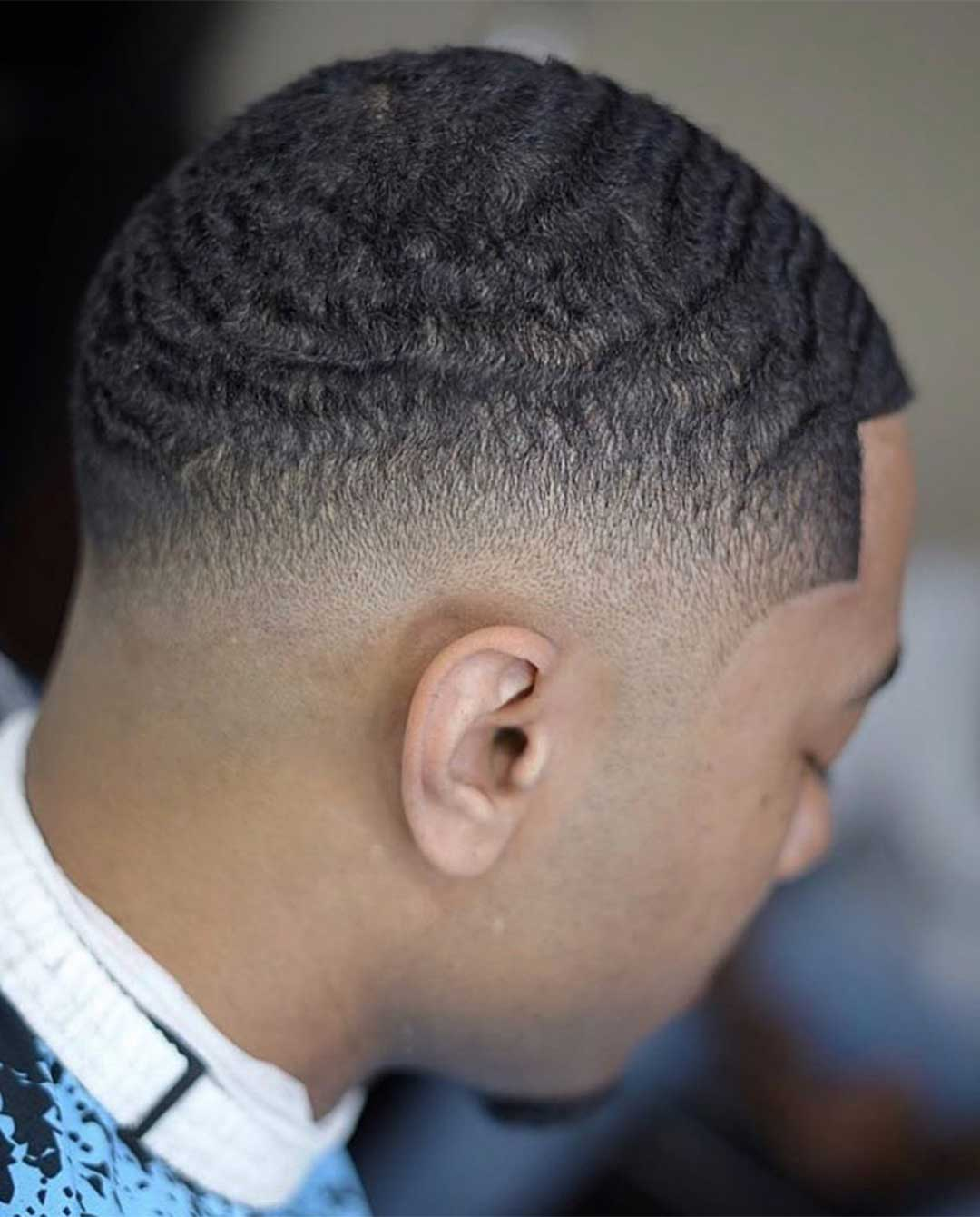 Mid Fade Waves Haircut