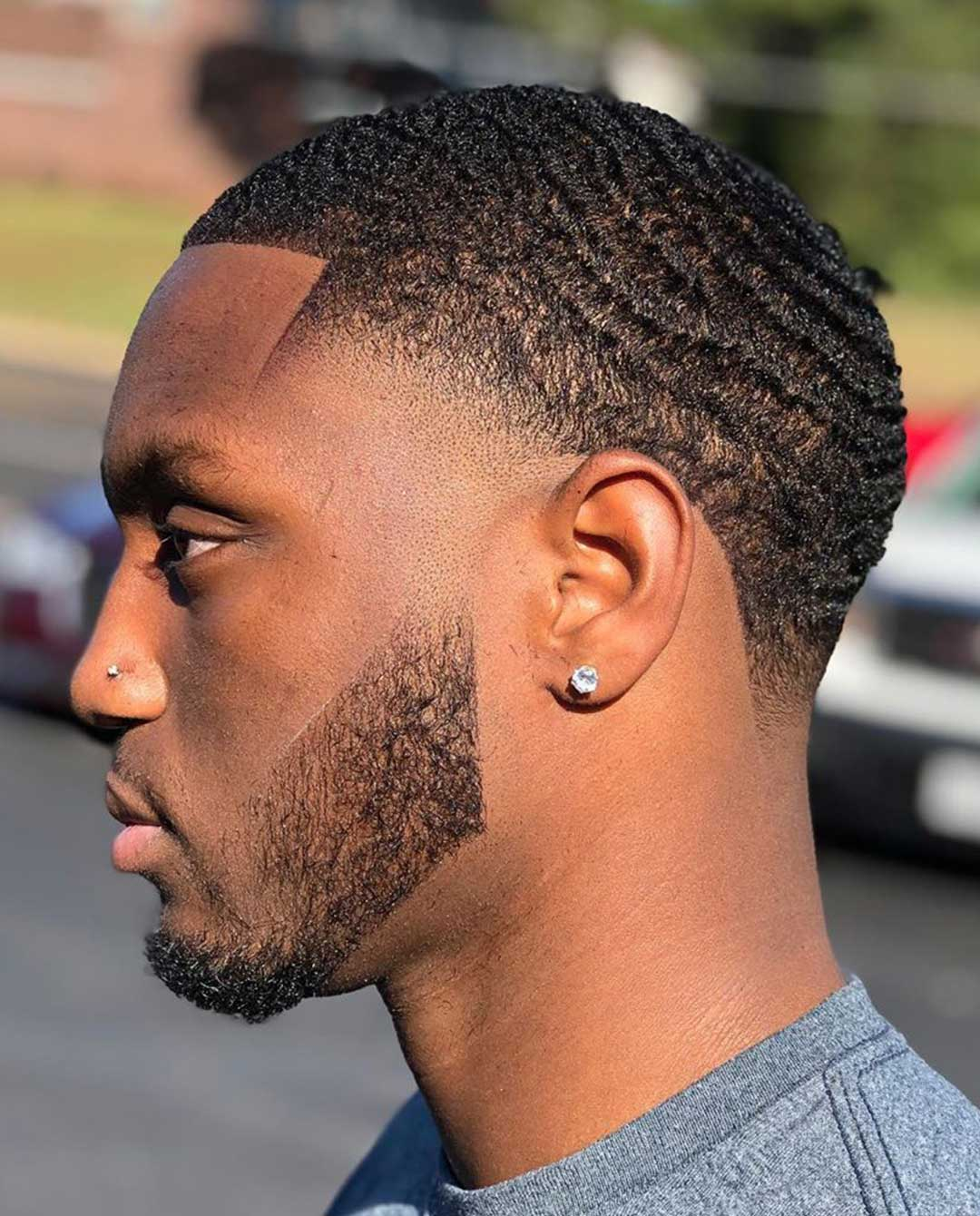 Taper Haircut with Waves