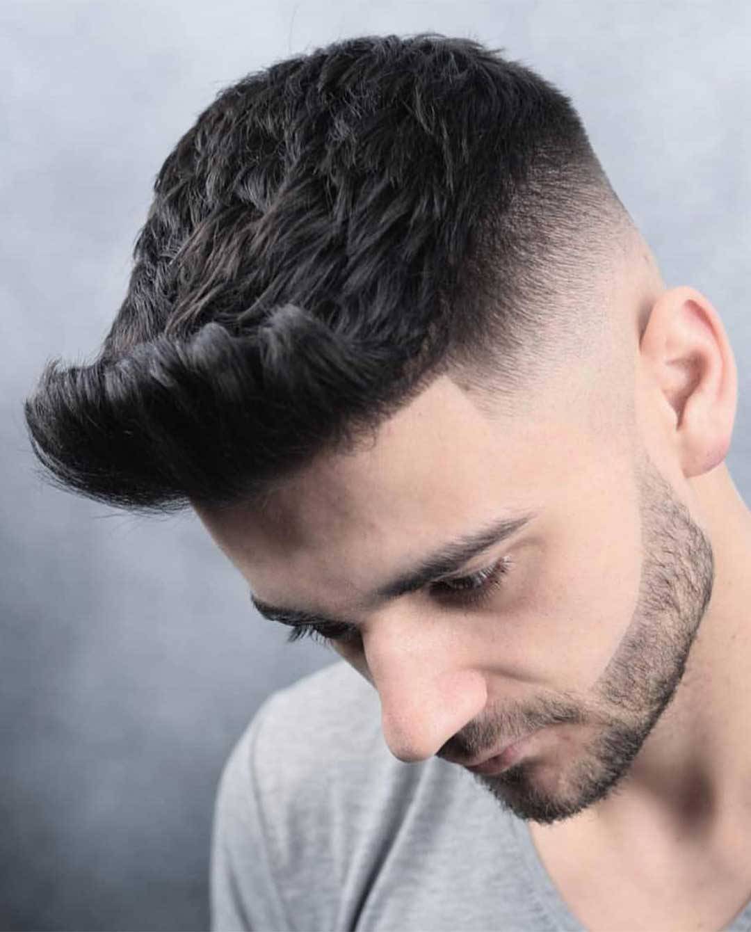 Modern Quiff with High Fade
